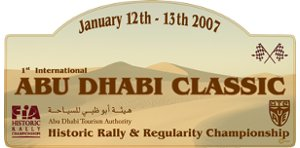 Cover: Abu Dhabi classic | Historic rally