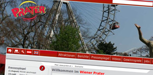 Cover: The website of the Vienna Prater
